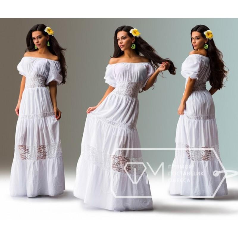 Платья белое в пол цена