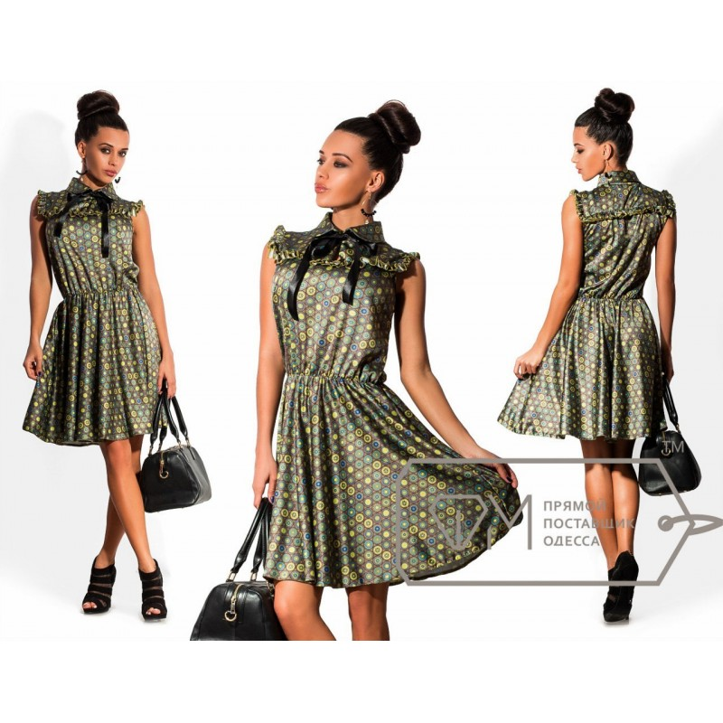 Модель платьев из сатина