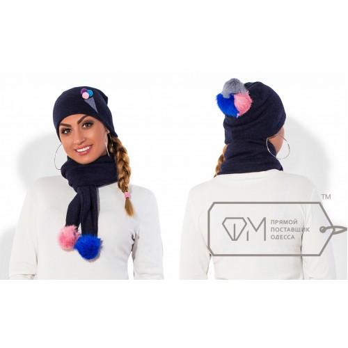 Комплект из шапки и шарфа ФМ Модель X5246