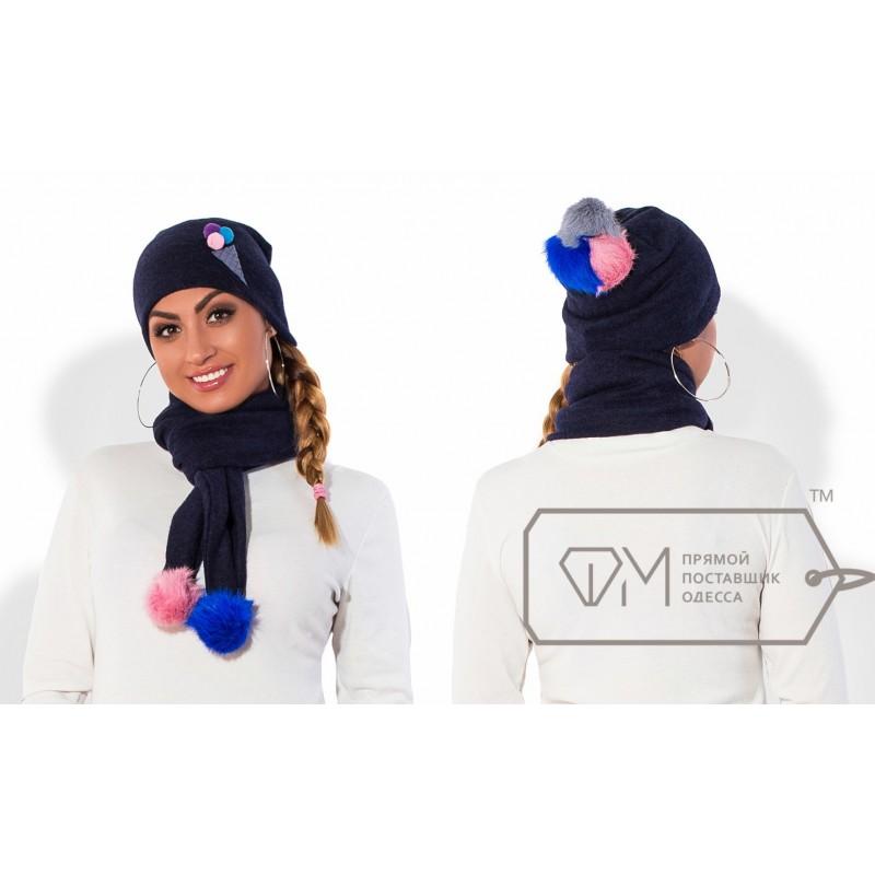 Комплект из шапки и шарфа ФМ Модель X5246 Фабрика моды