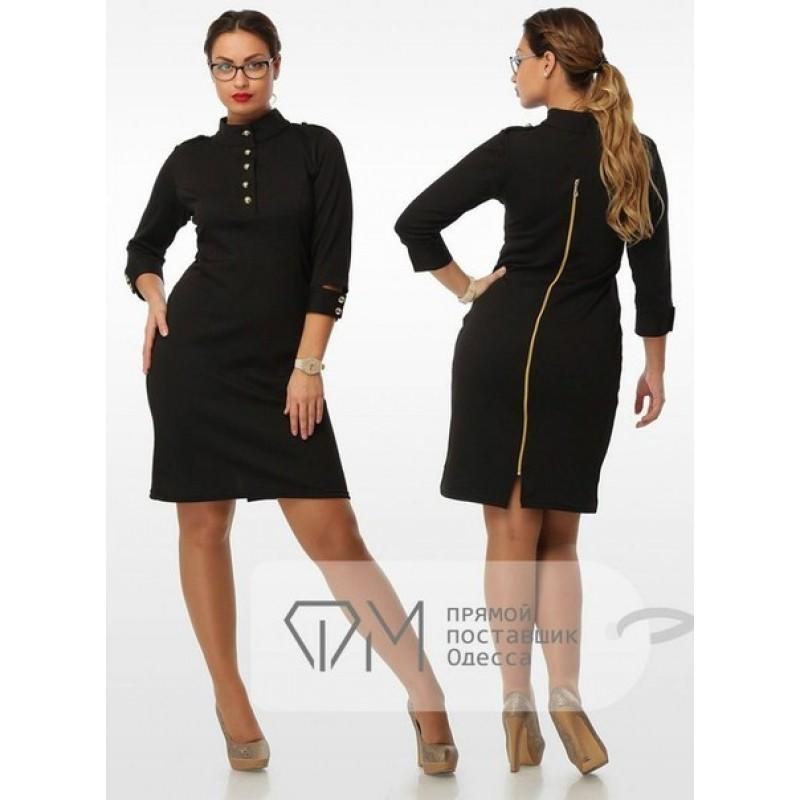 Оригинальное черное платье